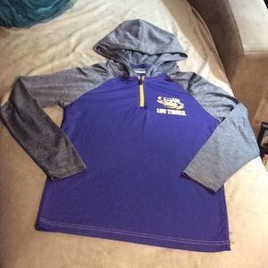 LSU long sleeve dri-fit pullover